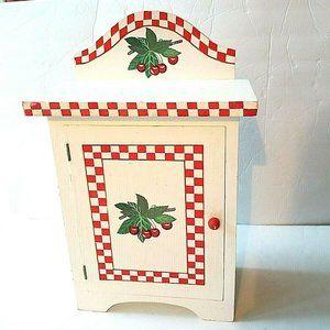 Vintage Small White Wood Kitchen Cabinet Retro